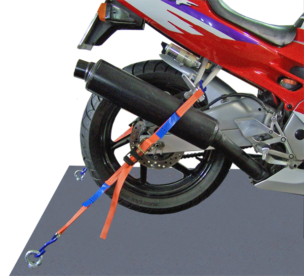 Motorradsicherung hinten