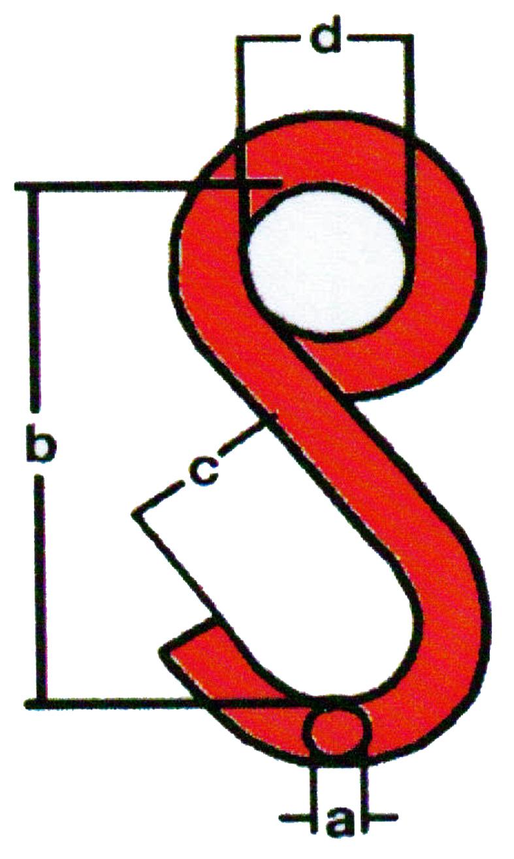 Hochfester S-Haken, geschlossene Form